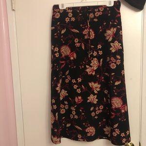 Dark Y2K Floral Maxi Skirt